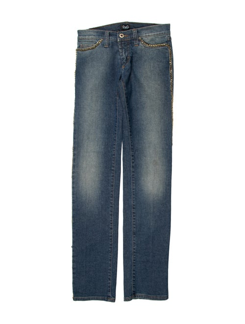 Dolce & Gabbana Low-Rise Straight Leg Jeans Blue