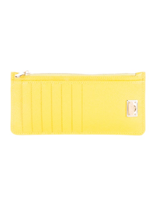 Dolce & Gabbana Leather Compact Wallet Yellow