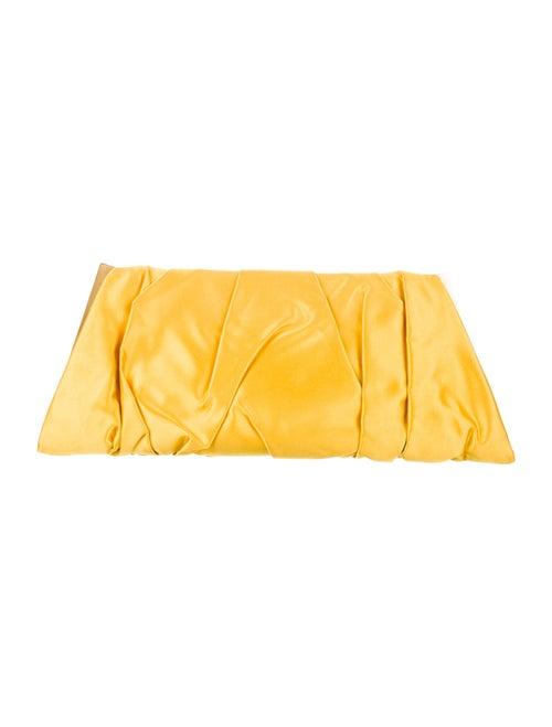 Dolce & Gabbana Satin Snap Clutch Yellow