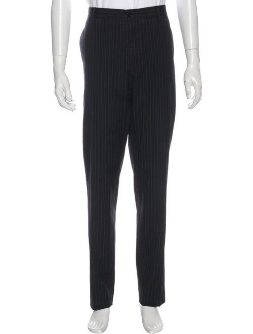 Dolce & Gabbana Striped Pants Black