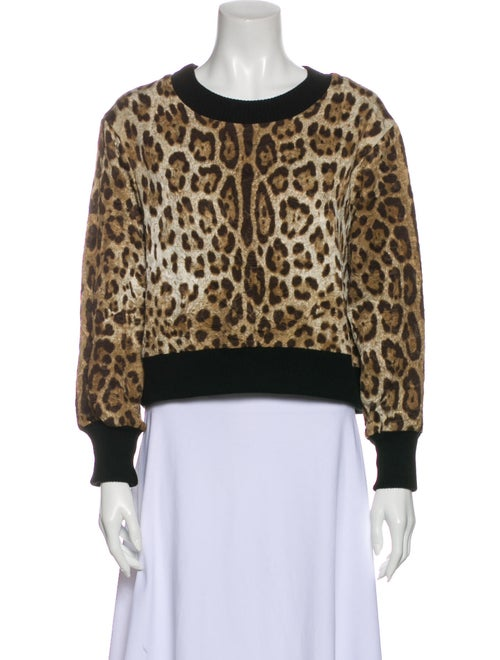 Dolce & Gabbana Animal Print Crew Neck Sweatshirt