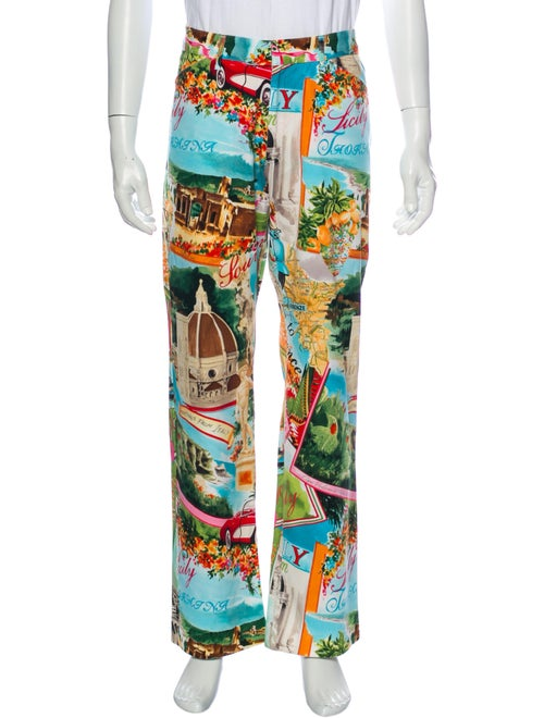 Dolce & Gabbana Printed Pants Blue