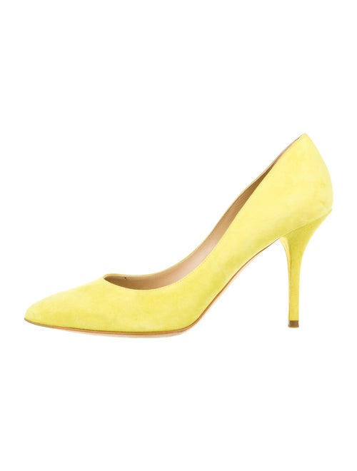 Dolce & Gabbana Suede Pumps Yellow