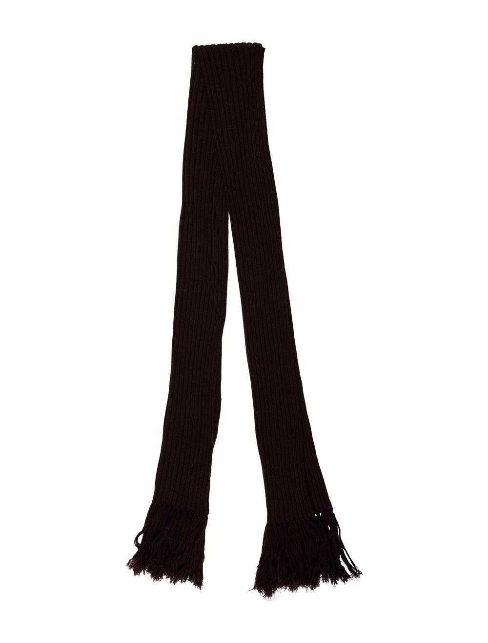 Dolce & Gabbana Knit Fringe Scarf Brown - image 1
