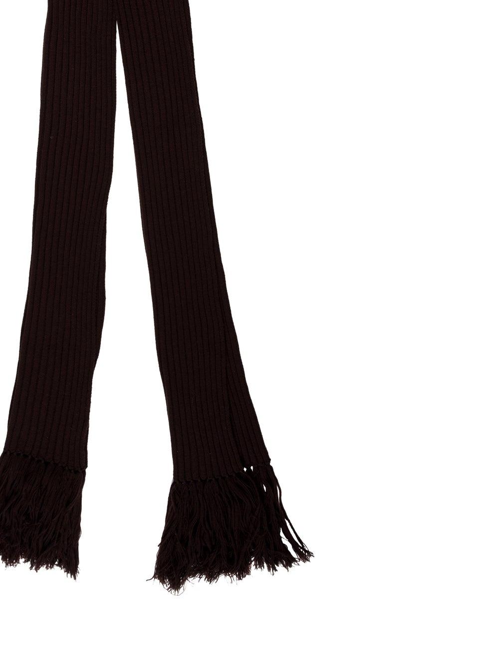 Dolce & Gabbana Knit Fringe Scarf Brown - image 2