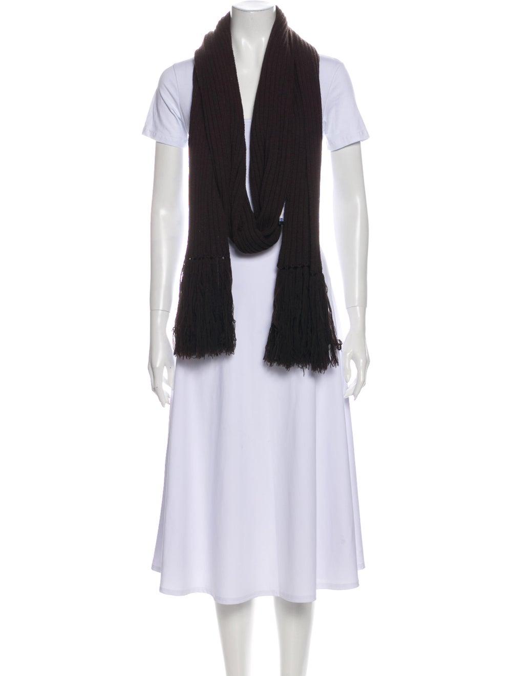 Dolce & Gabbana Knit Fringe Scarf Brown - image 3