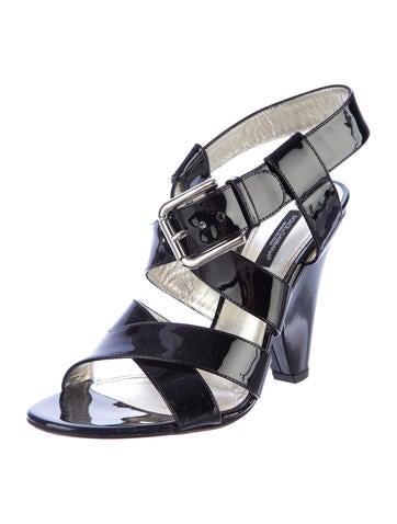 Patent Sandals