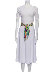 Dolce & Gabbana Wide Silk Waist Belt