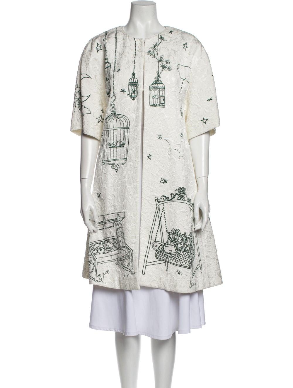 Dolce & Gabbana Printed Coat White - image 1