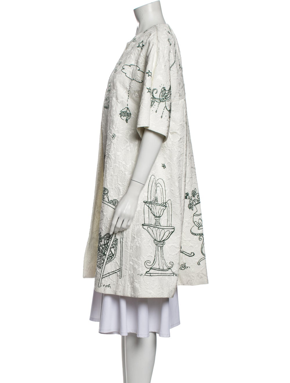 Dolce & Gabbana Printed Coat White - image 2