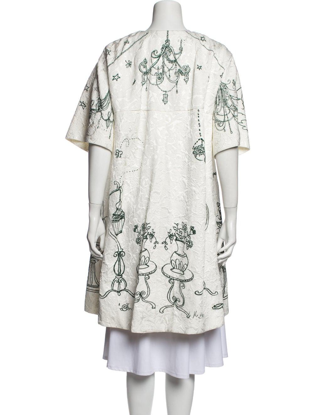 Dolce & Gabbana Printed Coat White - image 3