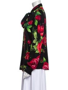 Dolce & Gabbana Silk Floral Print Blouse