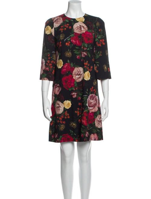 Dolce & Gabbana Rose Mini Dress Rose