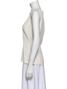 Dolce & Gabbana Scoop Neck Sleeveless Top