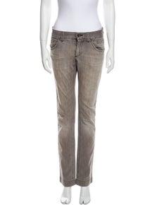 Dolce & Gabbana Mid-Rise Straight Leg Jeans