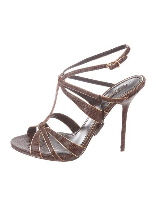 Dolce & Gabbana Lizard Strappy Sandals - image 1