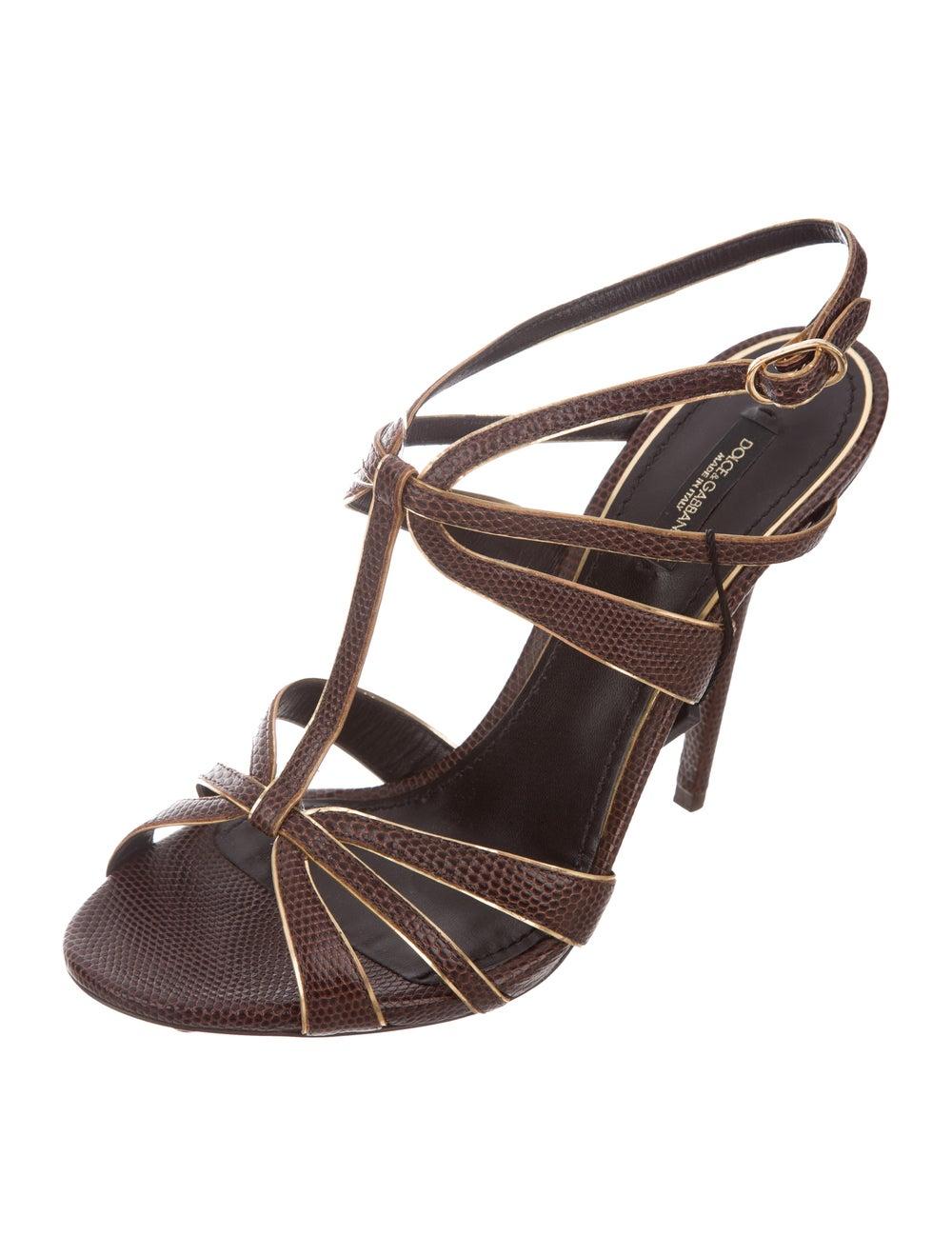 Dolce & Gabbana Lizard Strappy Sandals - image 2