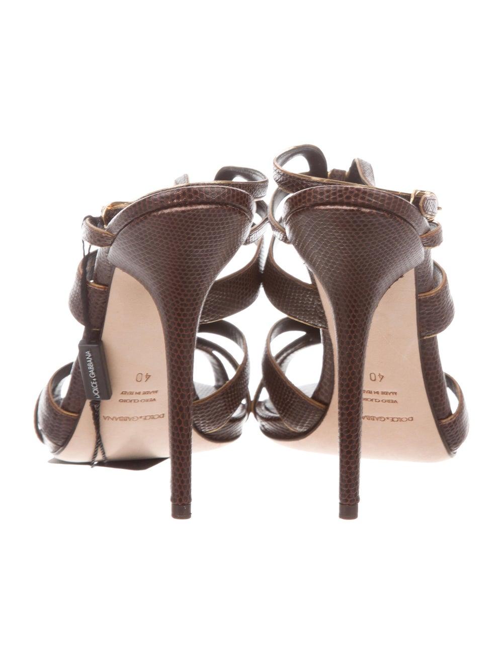 Dolce & Gabbana Lizard Strappy Sandals - image 4