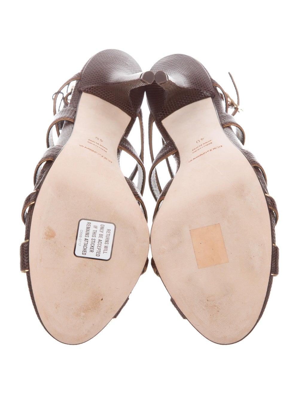 Dolce & Gabbana Lizard Strappy Sandals - image 5