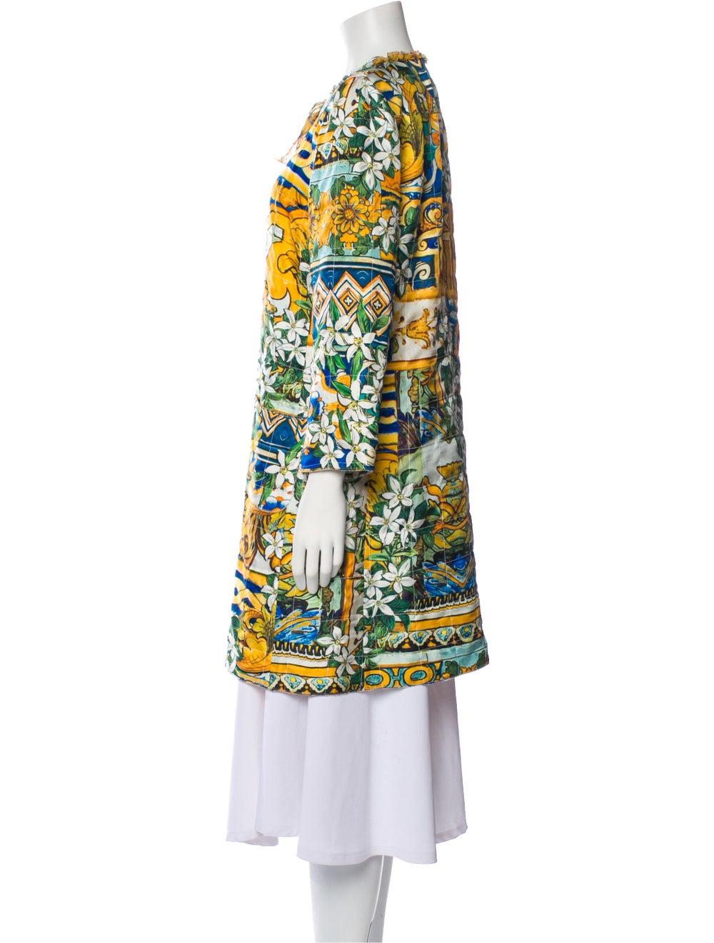 Dolce & Gabbana Silk Printed Robe Yellow - image 2