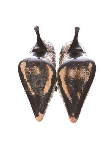 Snakeskin Pumps