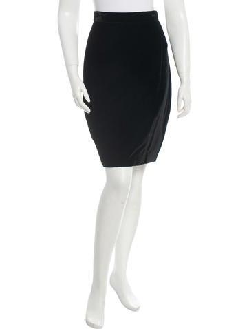 Dolce & Gabbana Velvet Skirt None