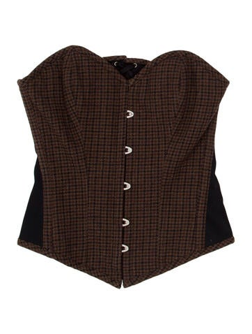 Houndstooth Print Bustier