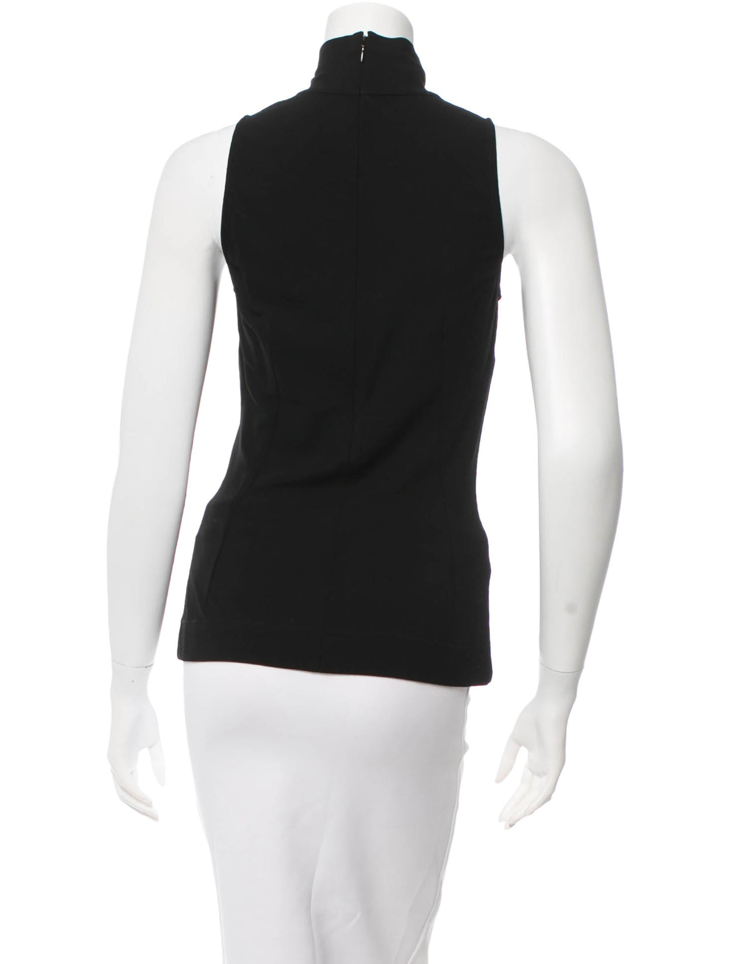Dolce gabbana mock neck sleeveless top clothing for Sleeveless mock turtleneck shirts