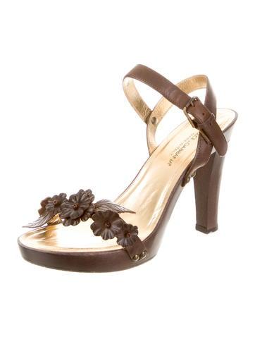 Floral Applique Sandals