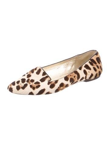 Ponyhair Leopard Print Loafers