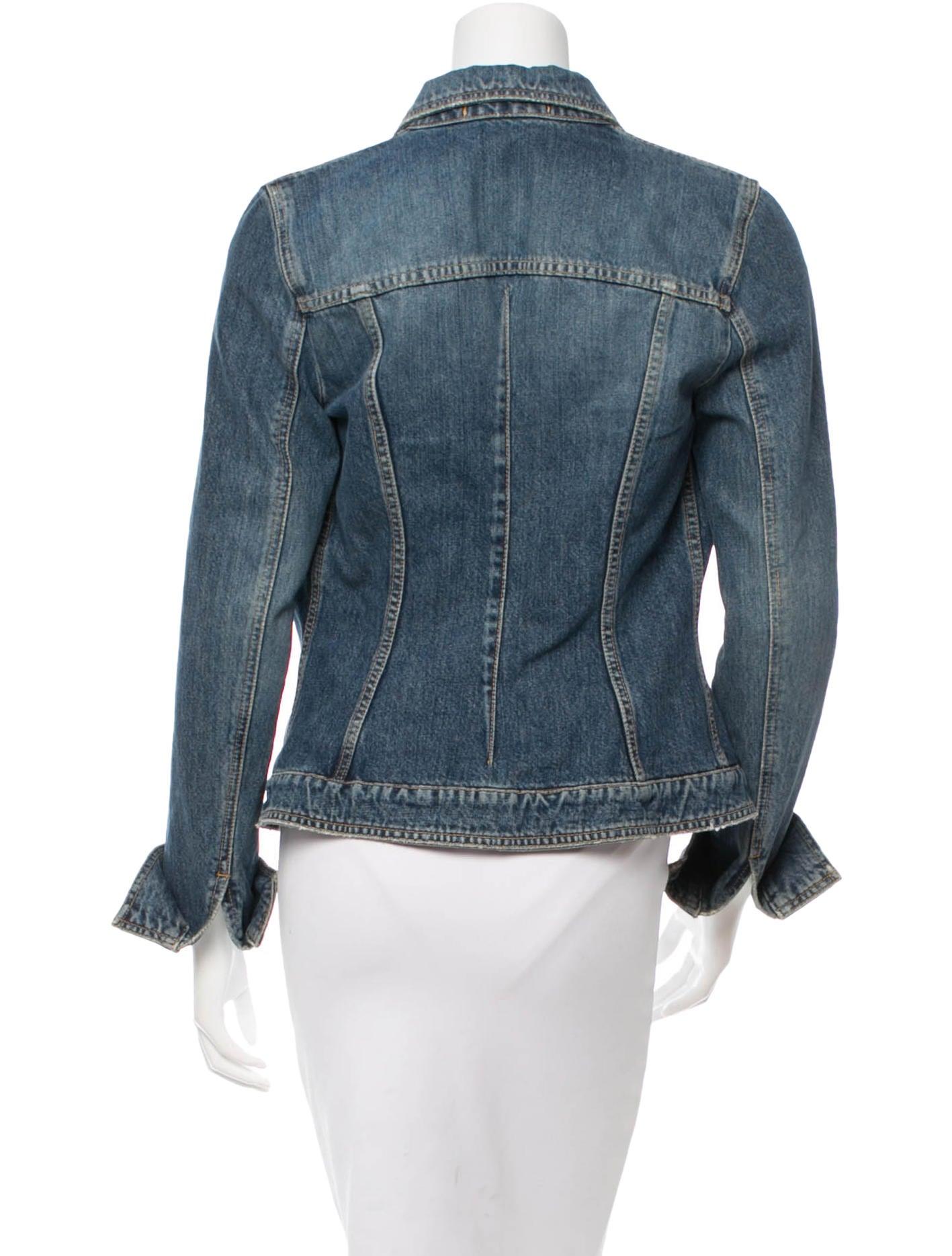 Dolce Amp Gabbana Distressed Denim Jacket Clothing