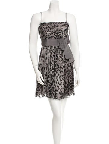 Dolce & Gabbana Leopard Print Silk Dress w/ Tags None