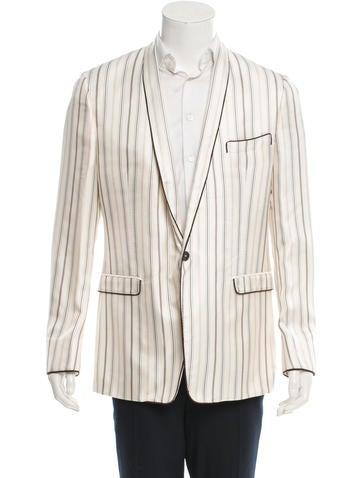 Dolce & Gabbana Silk Striped Blazer w/ Tags None