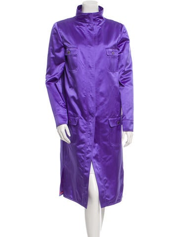 Dolce & Gabbana Silk Long Coat w/ Tags None