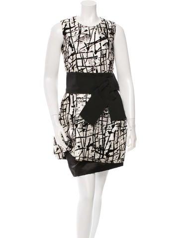 Dolce & Gabbana Printed Velvet Dress None
