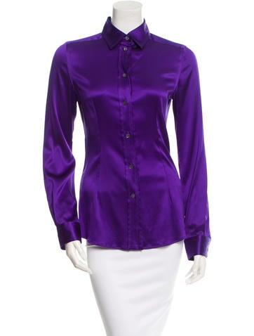 Silk Button-Up Top