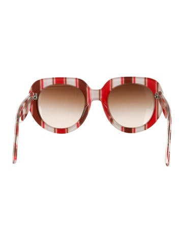 Striped Oversize Sunglasses