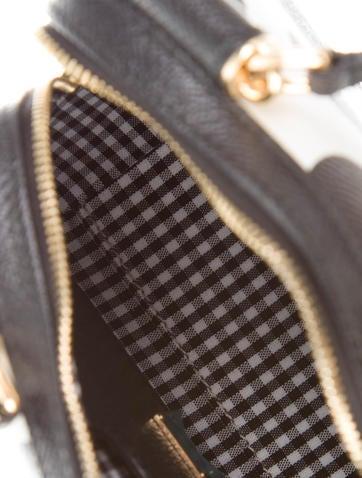 Mini Polka Dot Saffiano Leather Satchel