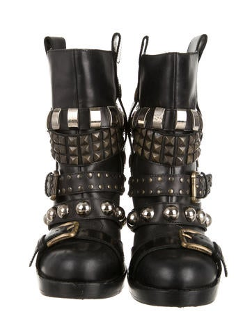Stud-Embellished Booties