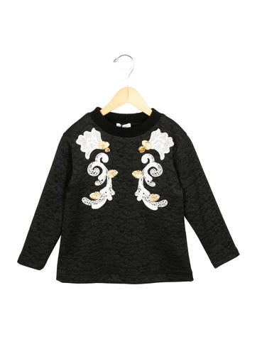 Dolce & Gabbana Girls' Embellished Crew Neck Dress w/ Tags None