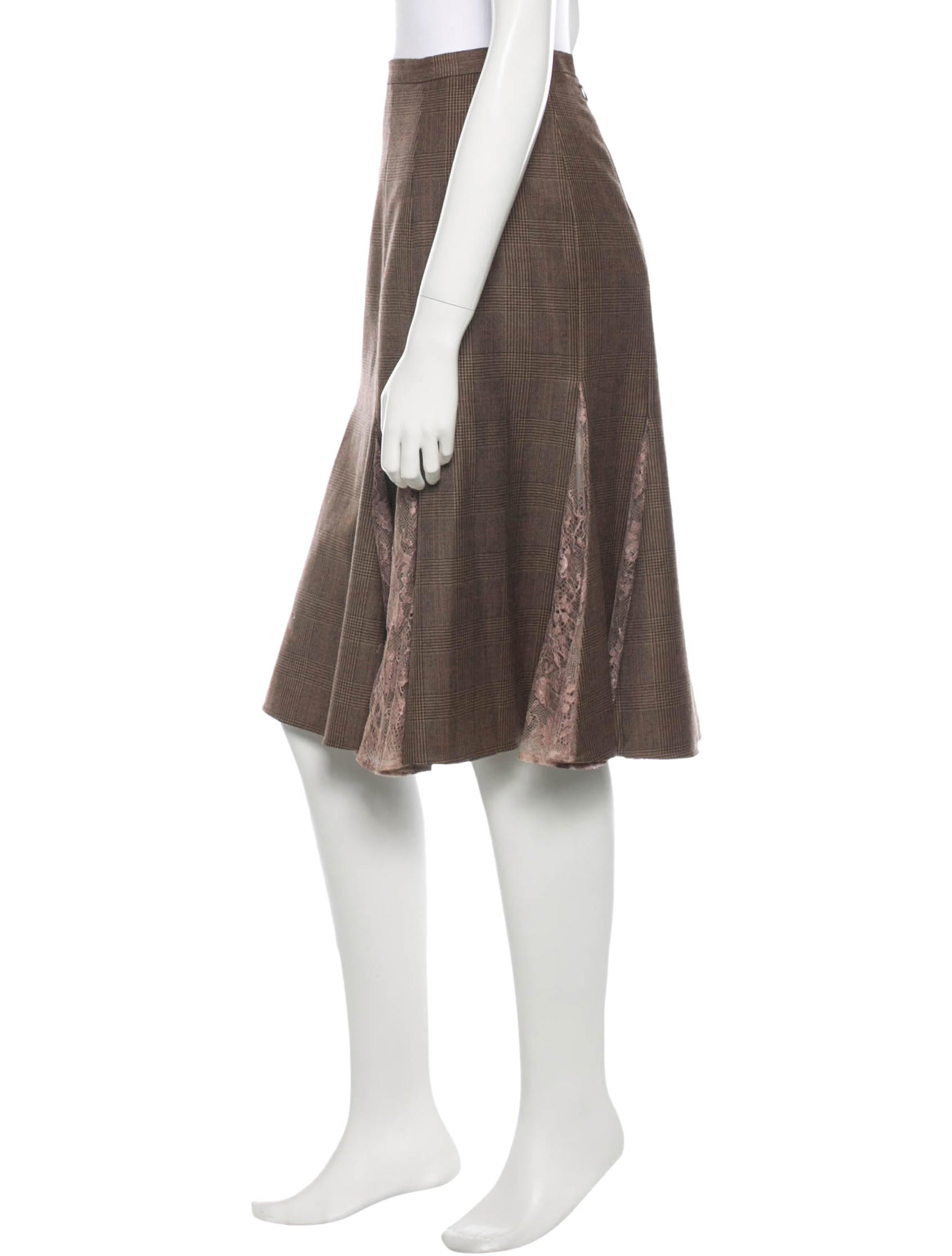 dolce gabbana plaid knee length skirt clothing
