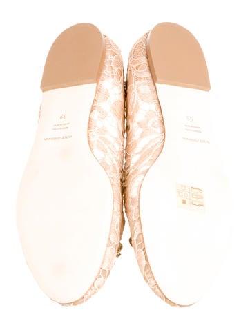 Lace Round-Toe Flats