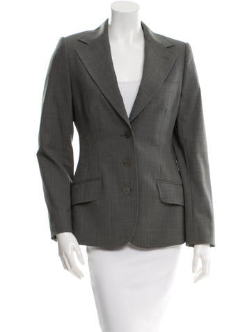 Dolce & Gabbana Wool Long Sleeve Blazer None