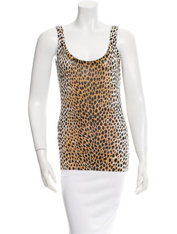 Dolce & Gabbana Sleeveless Leopard Print Top None