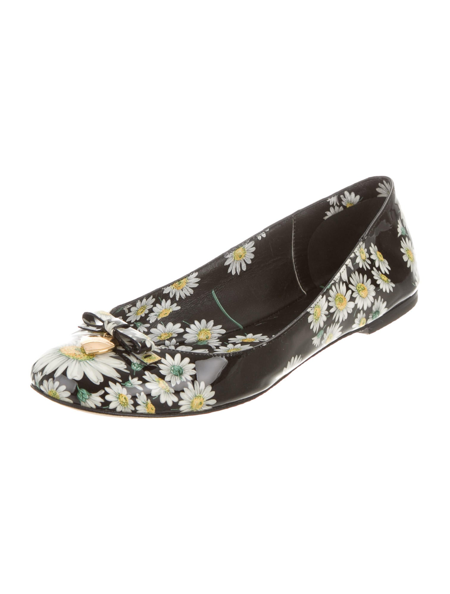 Dolce amp Gabbana Floral Printed Round Toe Flats Shoes  : DAG590042enlarged from www.therealreal.com size 1512 x 1995 jpeg 114kB