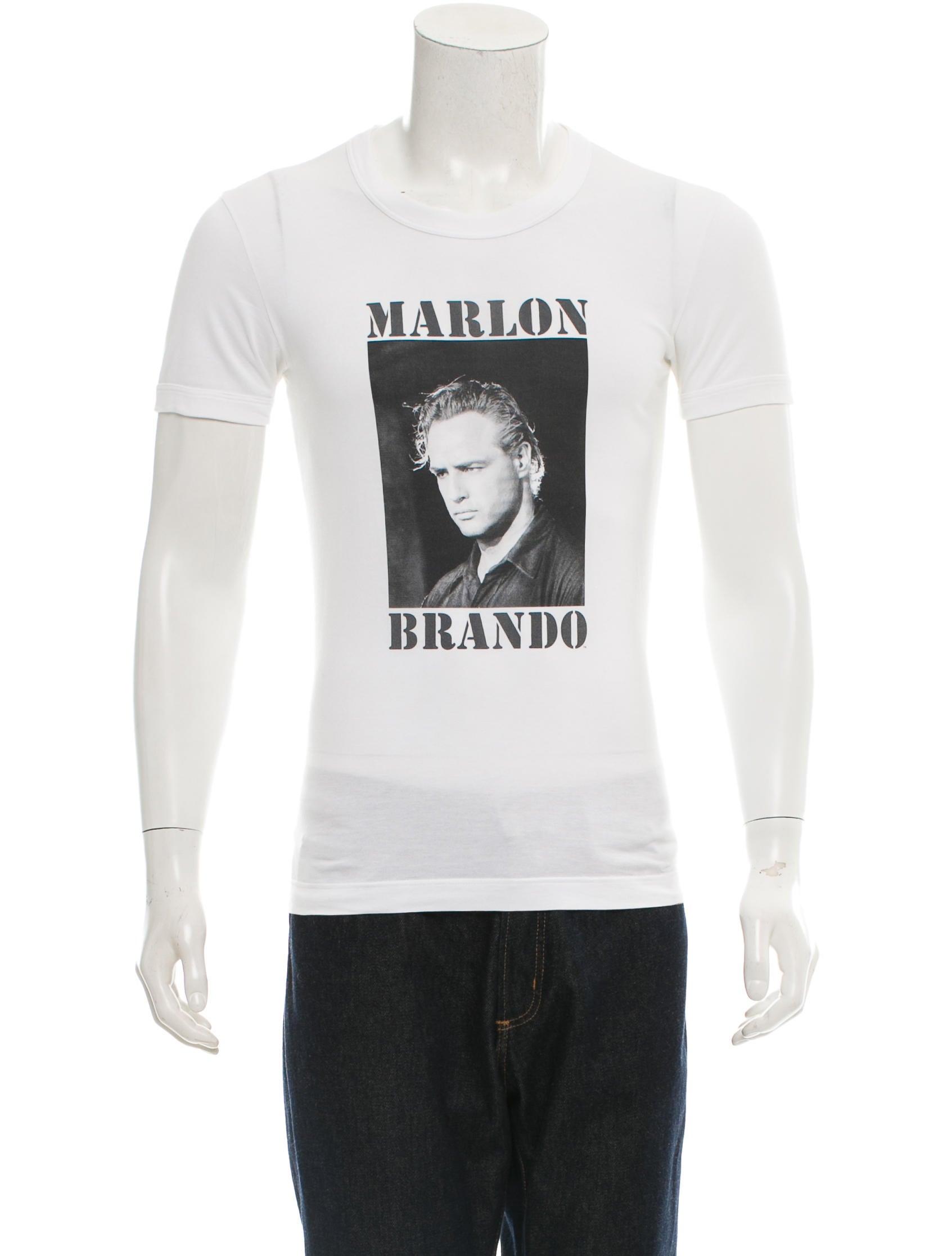 dolce gabbana marlon brando graphic t shirt clothing. Black Bedroom Furniture Sets. Home Design Ideas