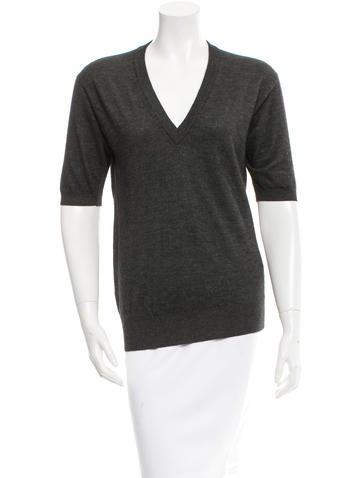 Dolce & Gabbana V-Neck Rib Knit Sweater None