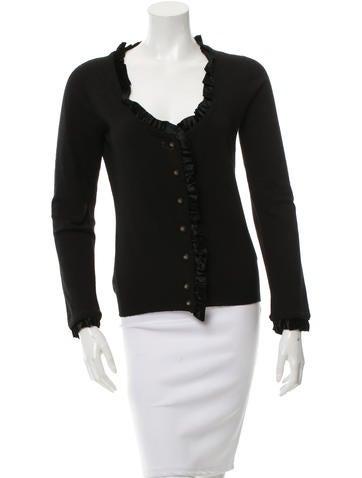 Dolce & Gabbana Wool Velvet-Trimmed Cardigan None
