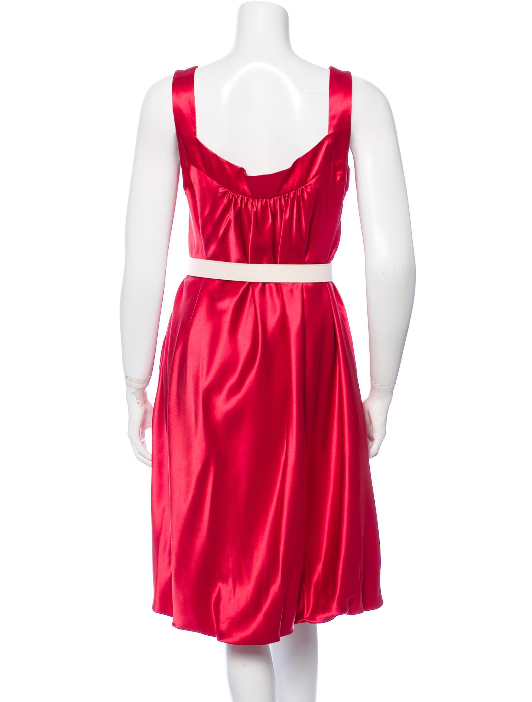 dolce gabbana belted shift dress clothing dag60649