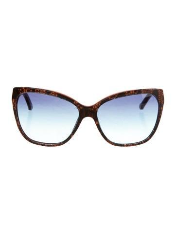 Dolce & Gabbana Lace Cat-Eye Sunglasses None